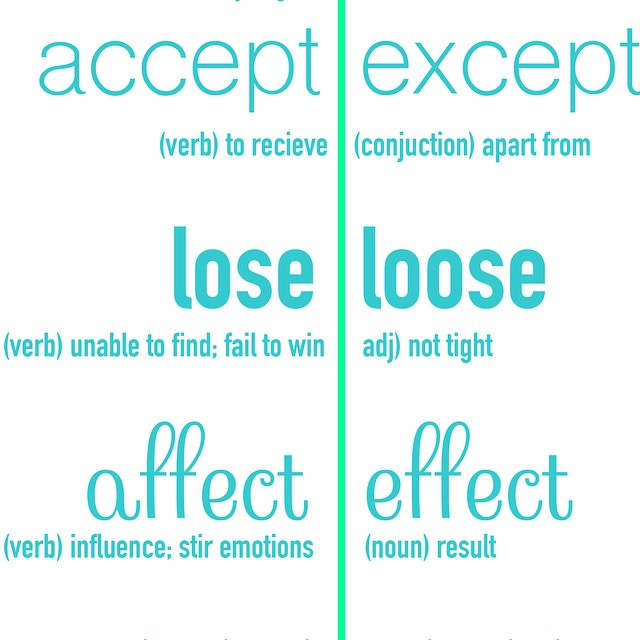 Are you always misspelling words!? Check your grammar with our latest post: jampaper.com/blog #spelling #grammar #misspelled #writing #english #accept #except #spell #learning