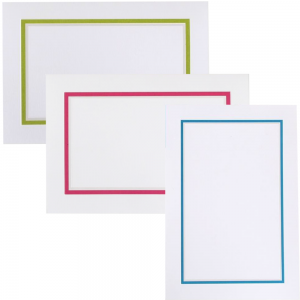 Colorful border stationery