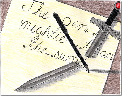 an essay on the pen is mightier than the sword Read this literature essay and over 88,000 other research documents the pen is mightier than the king matt mclellan the pen is mightier than the king the 17th century saw a king's head roll and an english.