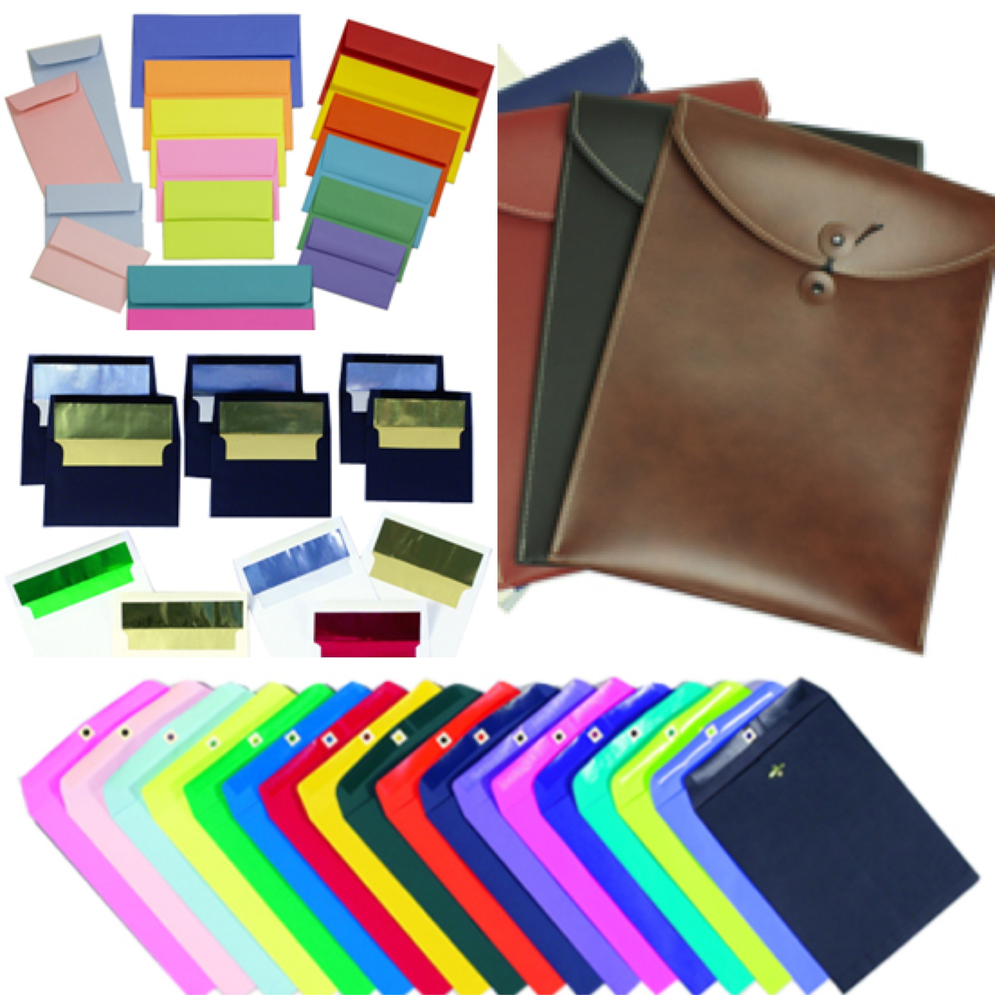 amazing envelopes assortment of foil-lined, policy, straight-flap, open-clasp, and portfolio envelopes