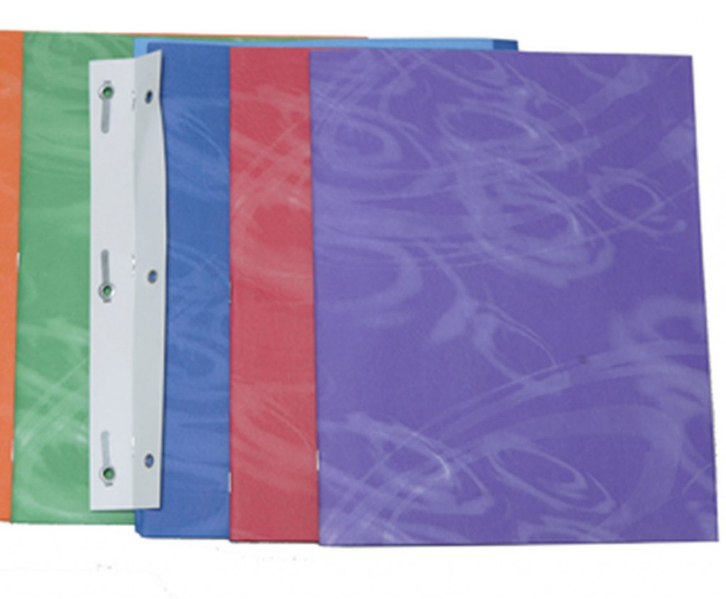 Assorted Color Duo Tang Folders with abstract design