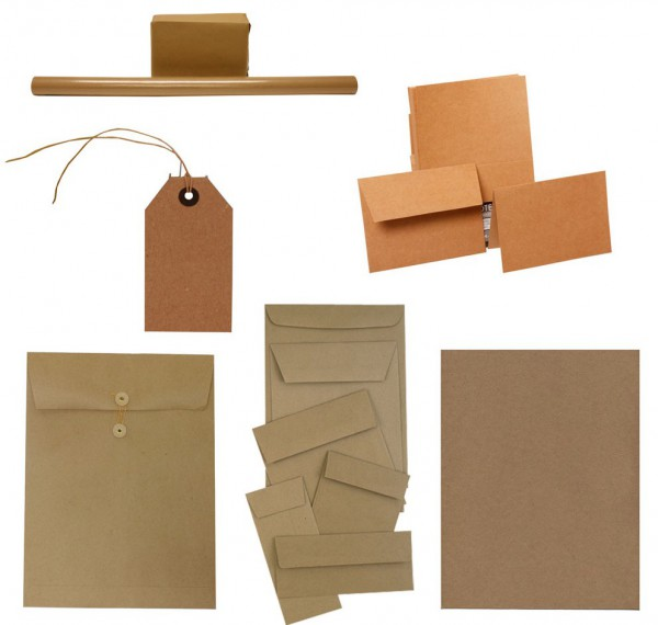 Kraft products - paper sheets, envelopes, folders