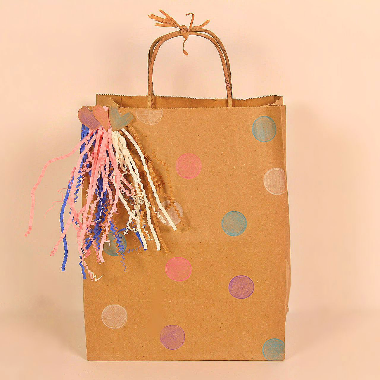 Creative Way To Use A Kraft Gift Bag For A Birthday