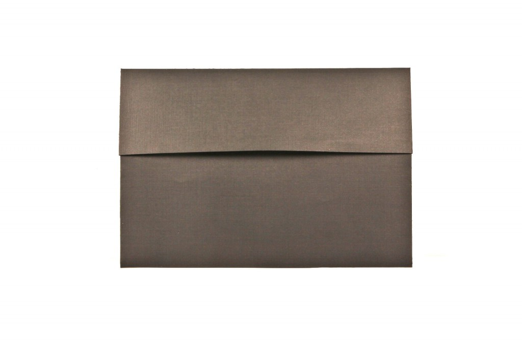 shimmering brown metallic paper envelope with straight flap