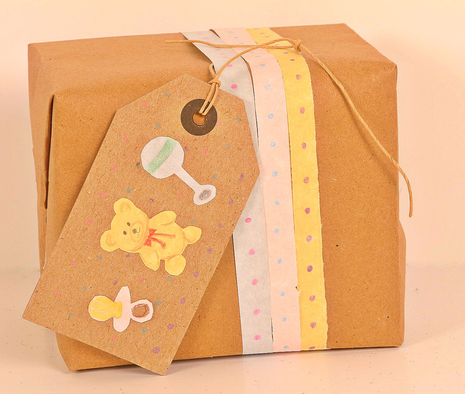 Baby Shower Gift Wrapping - Kraft Paper