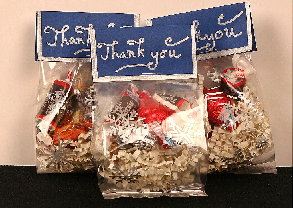 Goodie bags idea for winter snowflakes candy jam