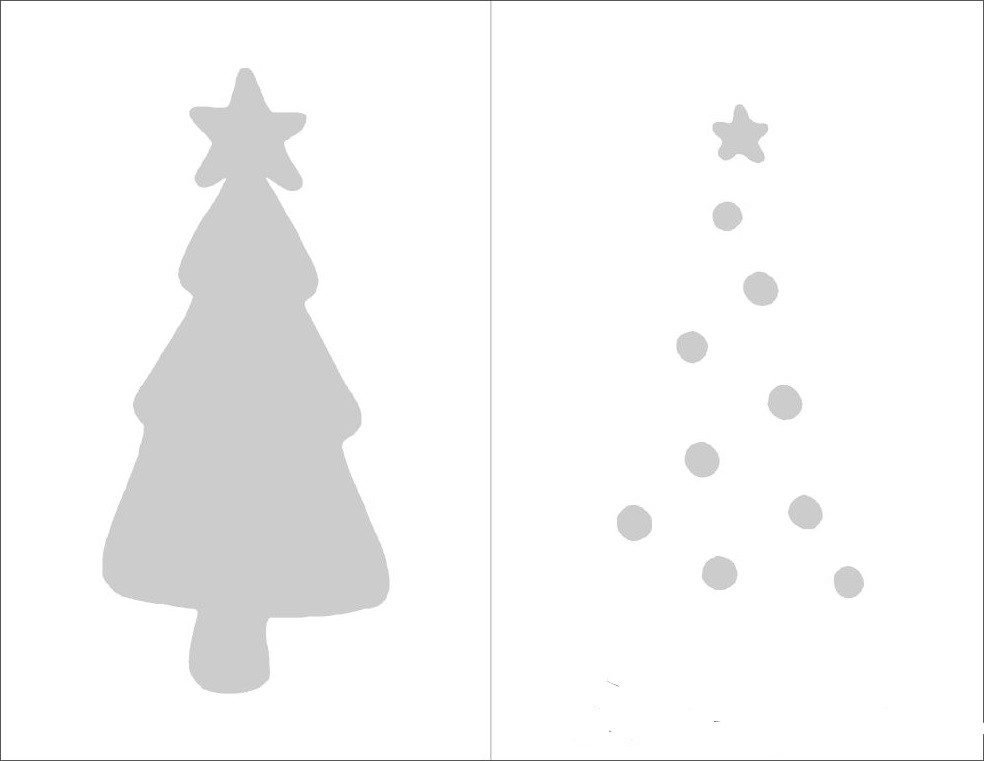 a simple diy christmas tree card from green cardstock jam blog