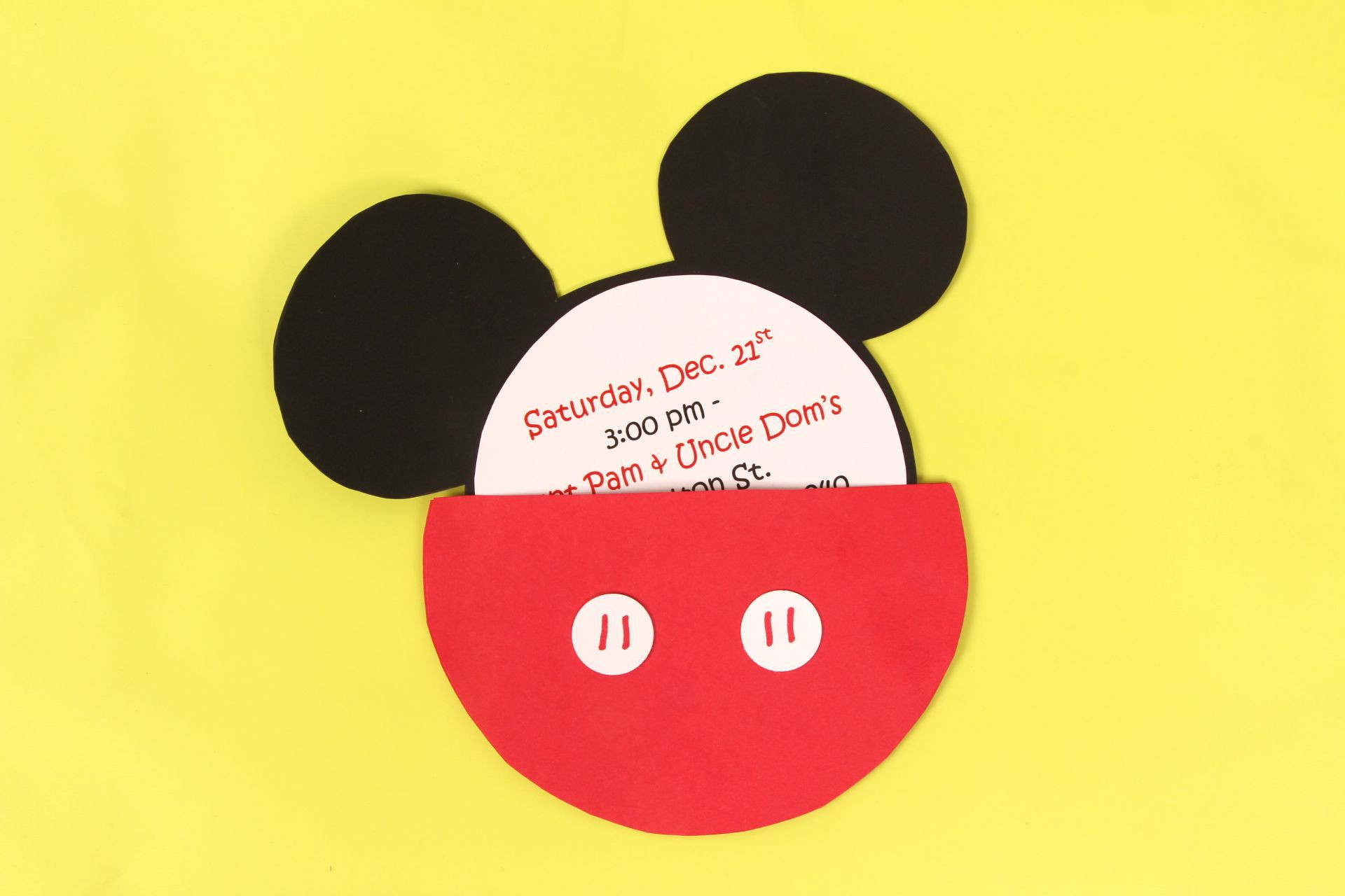 A DIY Mickey Mouse Party Invitation Idea for a Mickey Party - JAM Blog