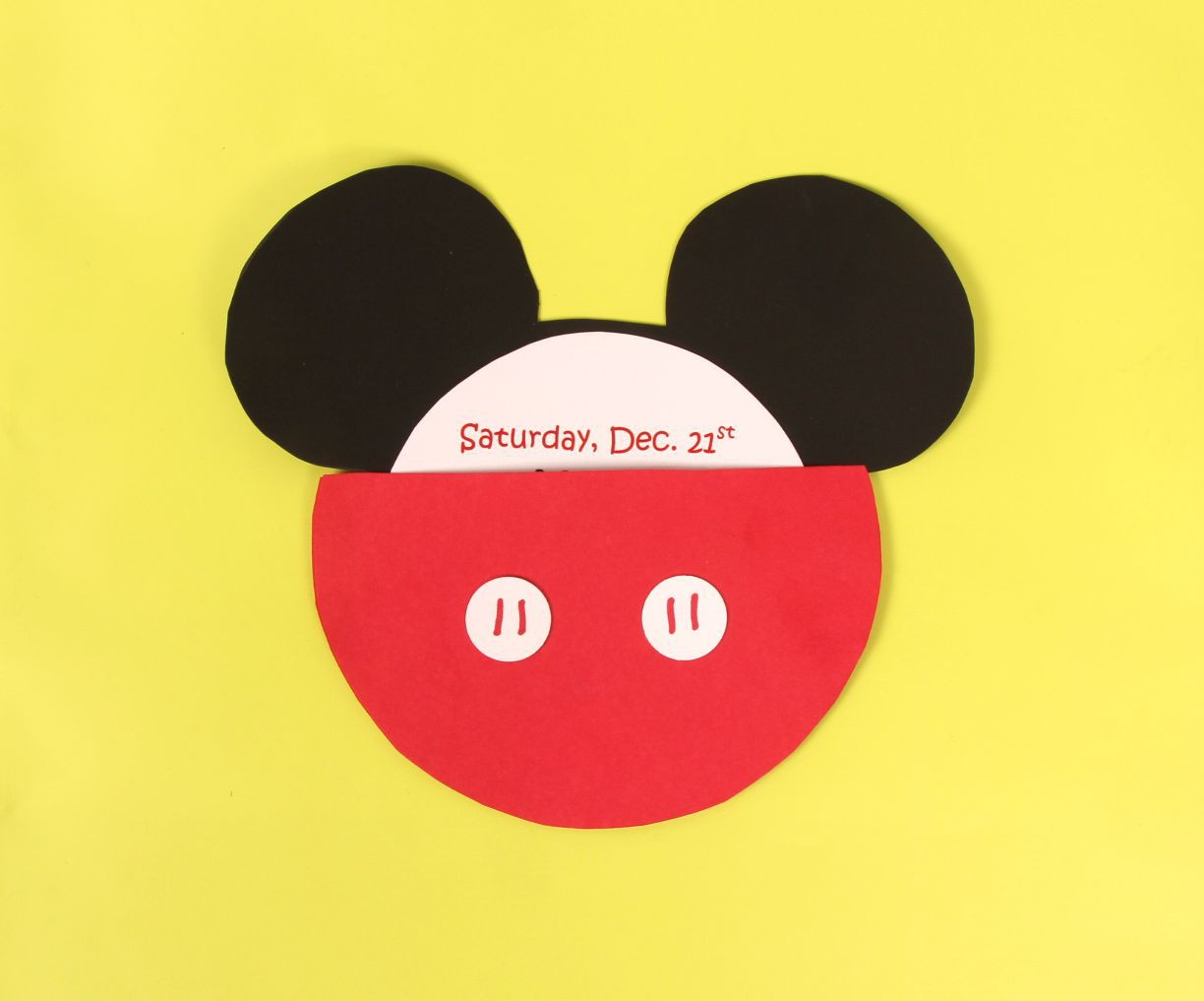 diy mickey mouse party