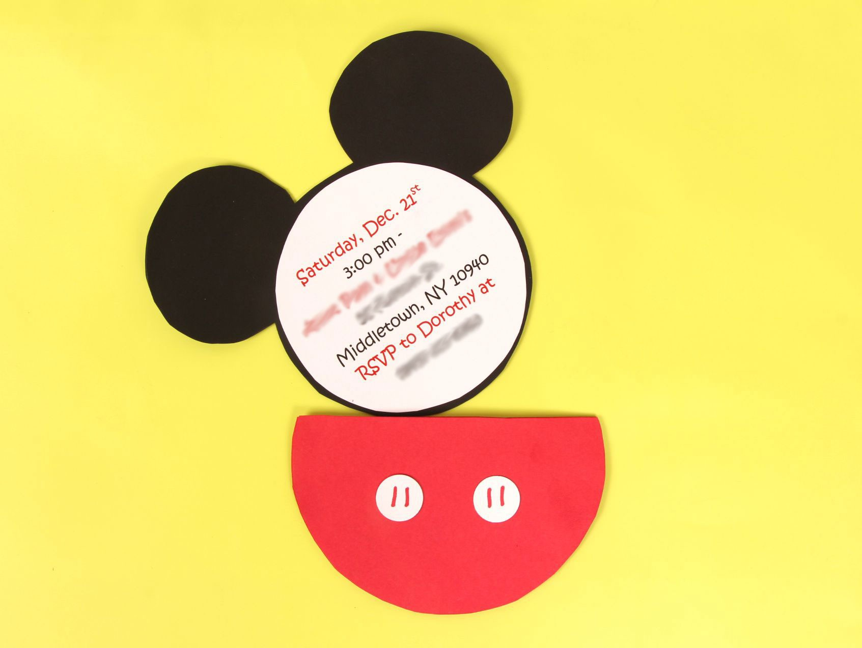 A Diy Mickey Mouse Party Invitation Idea For A Mickey