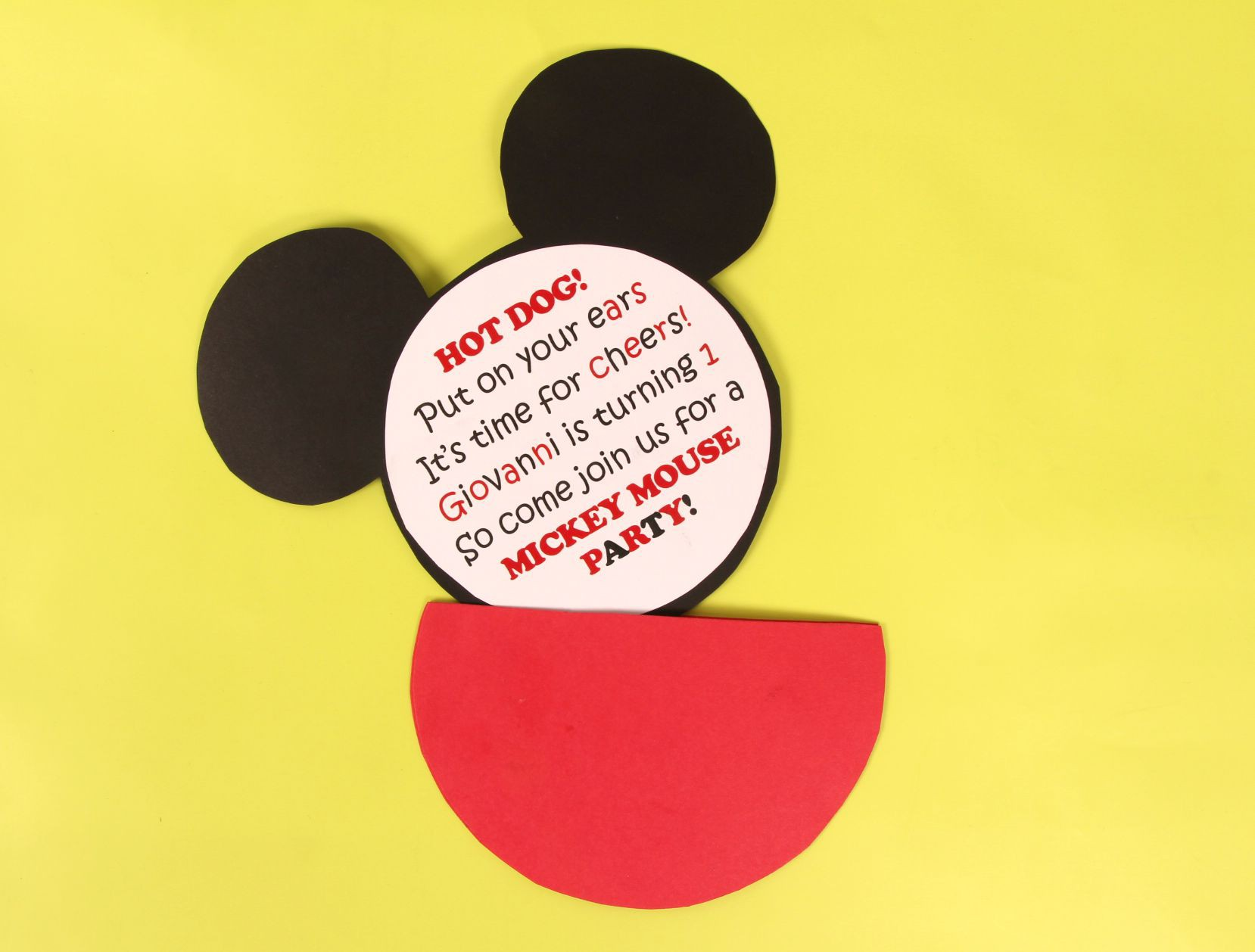 mickey mouse invitation ideas party invitations ideas