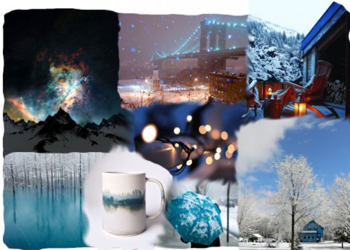 Mood Board of the Month: Winter Blues