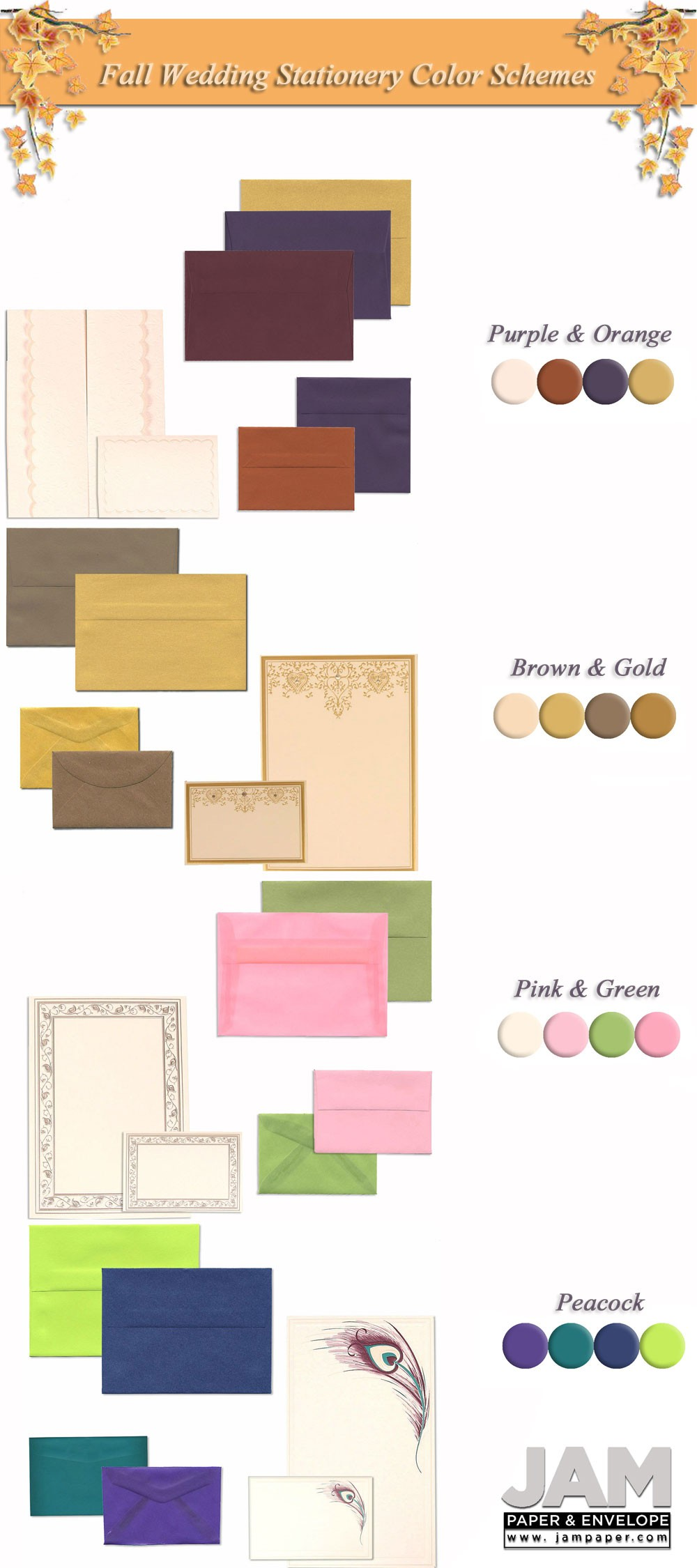 Fall Color Schemes Fall Wedding Color Schemes For Wedding Stationery  Jam Blog