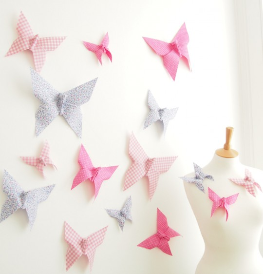 Make your walls fly with paper butterflies jam blog for How to make paper butterflies for wall