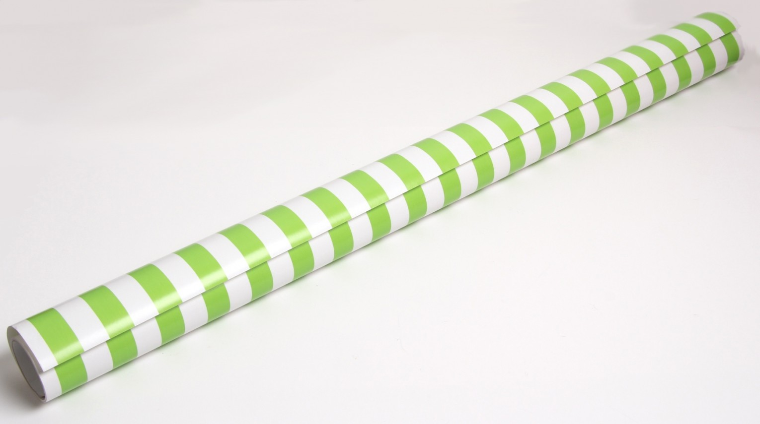 green and white striped wrapping paper roll
