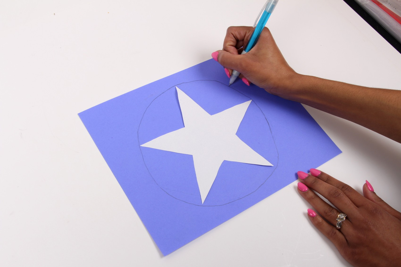 How to make a captain america shield jam blog for How to make a star with paper step by step