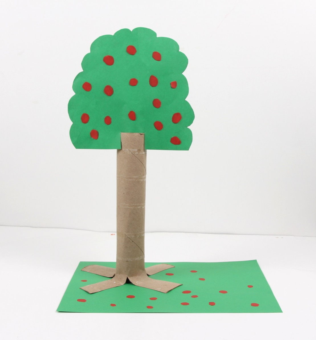 arbor day craft recycled paper apple tree   jam blog
