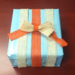 The Secret to Wrapping Presents with Burlap Ribbon