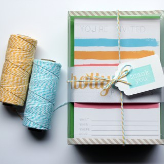 cards, stationery, twine
