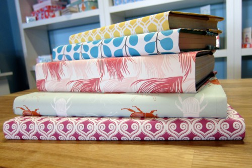 Wrapping Paper Book Cover Instructions ~ Krafty diy book covers jam