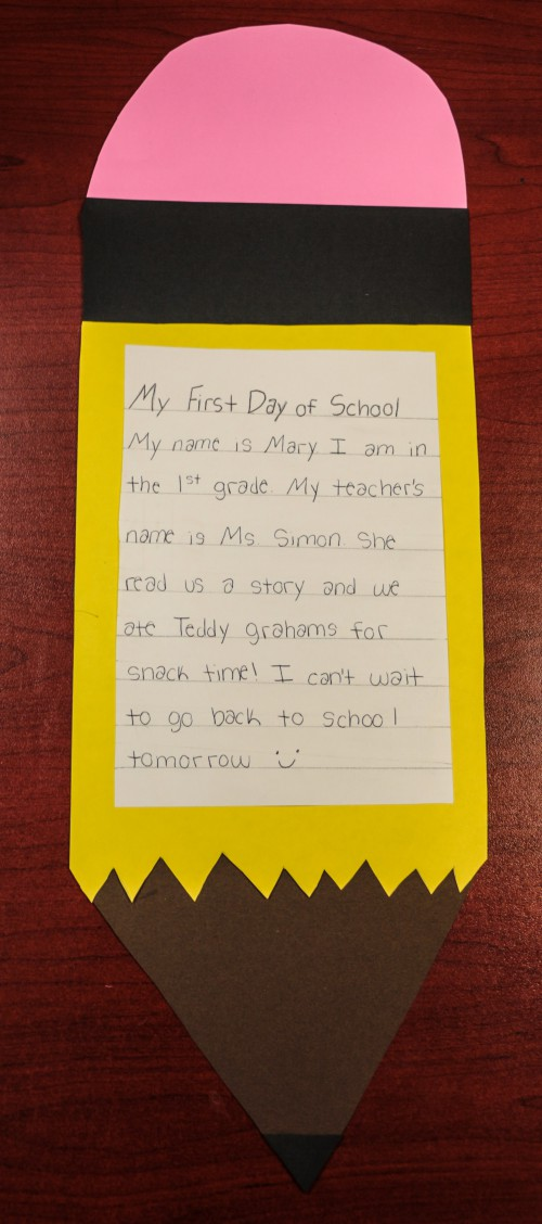 First Day of School Craft for 1st Graders