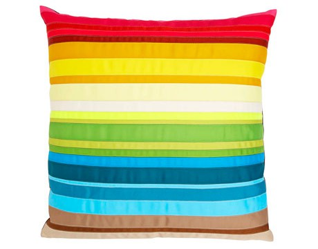rainbow striped colored pillow cushion