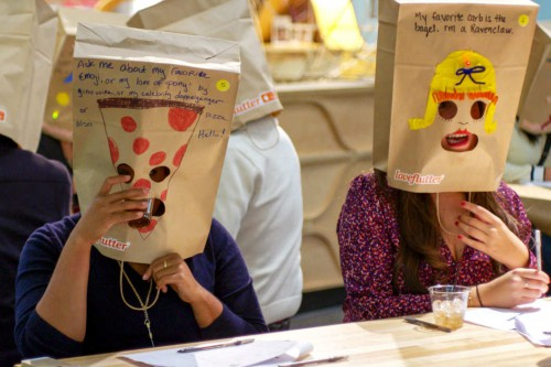 speed dating paper bag A new organization is giving social singles the chance to find love in a very unique and real way love flutter is taking blind dating to a whole new level b.