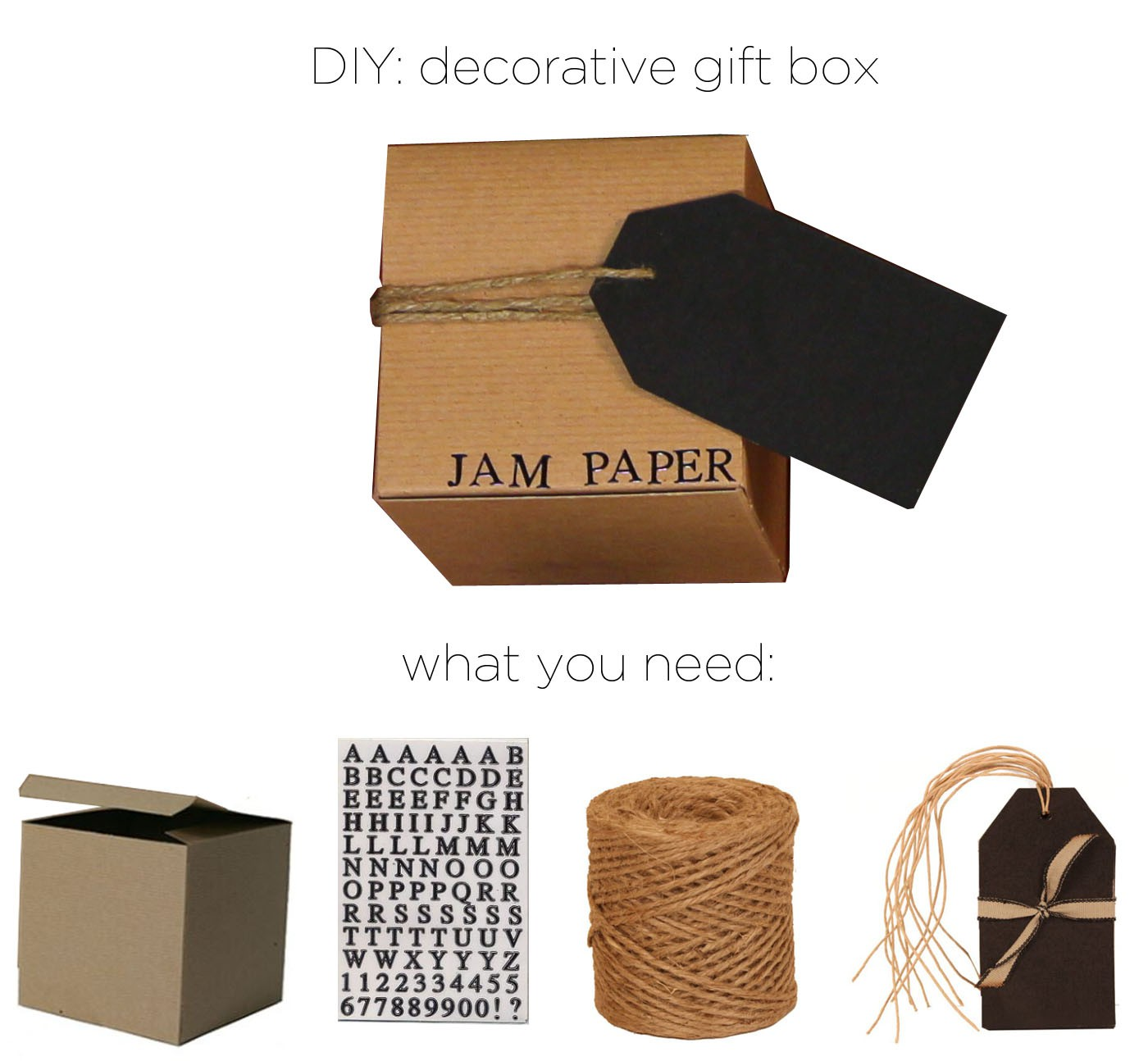 diy decorative gift box. Black Bedroom Furniture Sets. Home Design Ideas