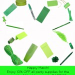 March Madness: 10% OFF ALL Party Supplies!