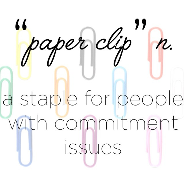 Happy Wednesday everyone! Shop for your colored paper clips today: jampaper.com #jampaper #paperclips #humpday #officesupplies #humor #officehumor #commitment #colors