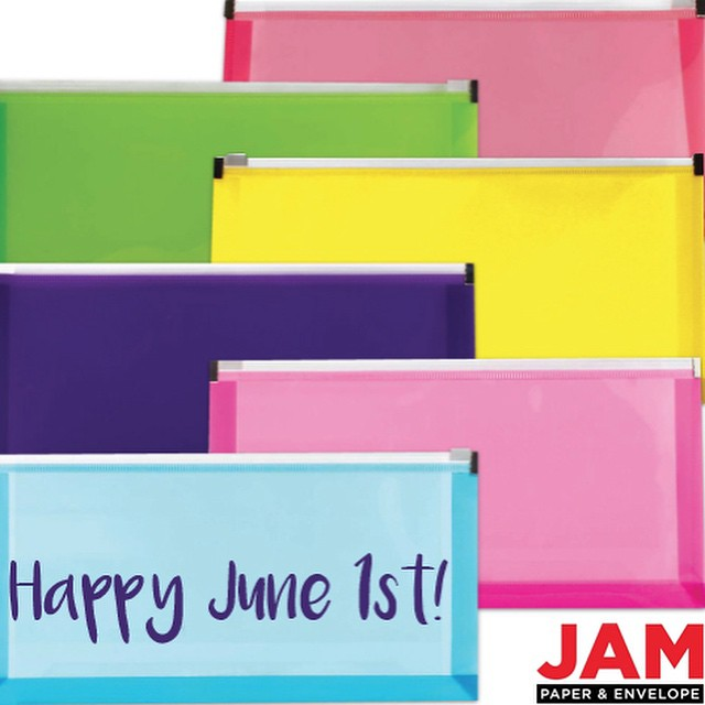 Happy June everyone ! Hope you had a nice sunny weekend ! #jampaper #weekend #june #monday #plastic #envelopes #shopping #paper #officesupplies #crafts #fun #love shop -> jampaper.com