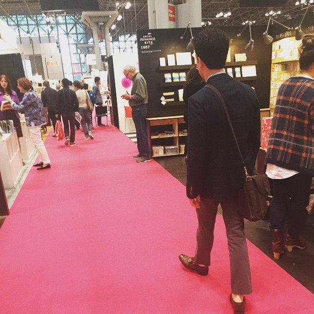 Andrew walking the show! What products are you excited to see? @stationeryshow #nss #jampaper