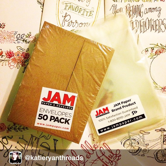 Thanks for photo @katieryanthreads ! We love seeing pics from our customers!#jampaper #shopping #products #envelopes #plastic @igrepost_app, New plastic sleeves and envelops are my JAM #jampaper #katieryanthreads check out https://www.etsy.com/shop/KatieRyanThreads for new cards