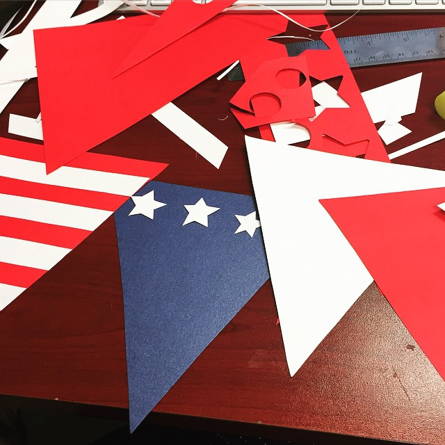 Memorial Day crafting sneak peek! #red #white #blue #mdw #craft #crafting #rwb #paper #diy #jampaper #officesupplies #shophere jampaper.com