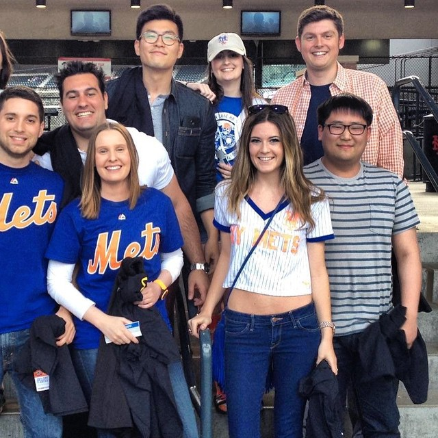 JAM's Marketing Team at the @mets game on Friday! #marketing #jampaper #workhardplayhard #fun #mets #team #dreamteam