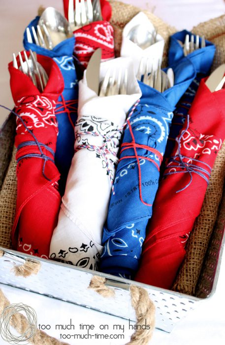 Bandana Utensils, memorial day utensils