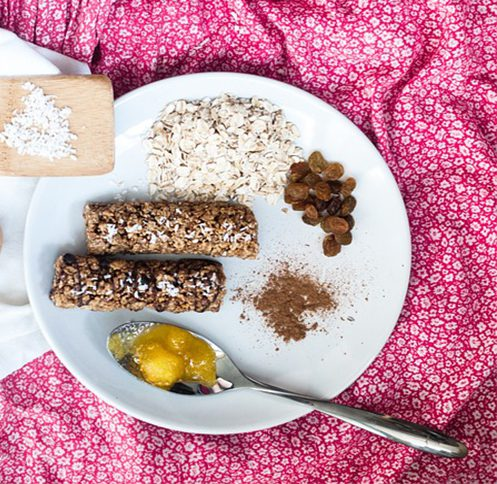 Cereal Bar, Granola Bar, Spoon, Granola