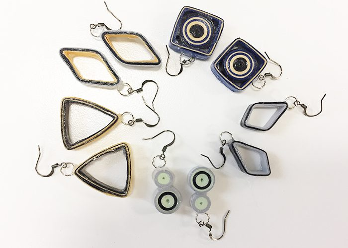 diy earrings pairs arranged in circle