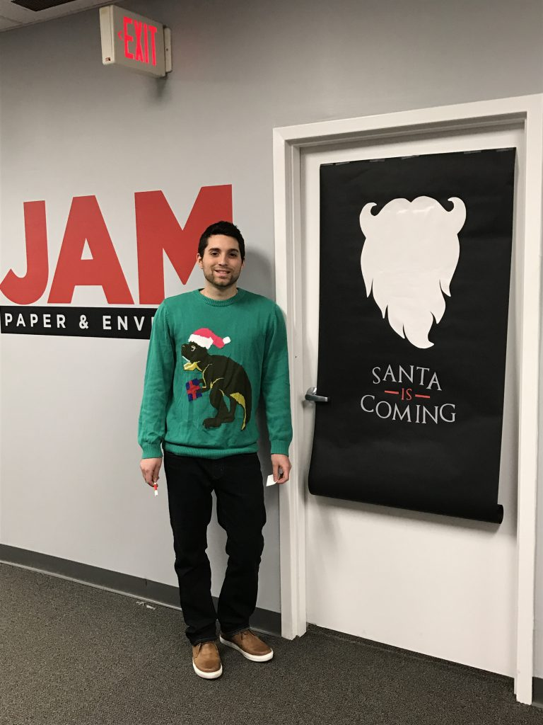 "JAM employee, ""Santa is coming"" Game of Thrones Christmas decorating"