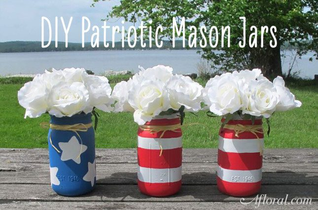 Mason Jars, diy mason jars, memorial day, memorial day crafts