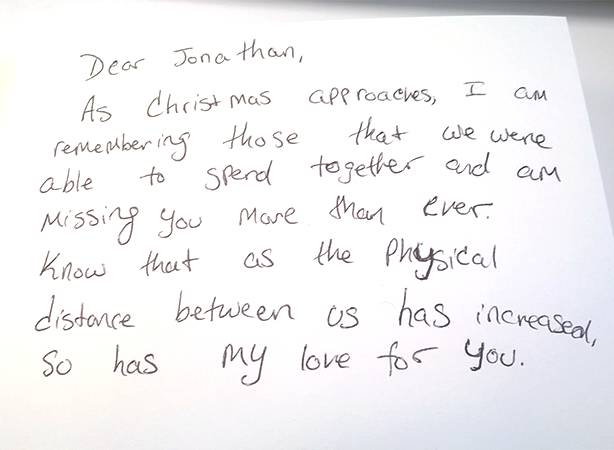 Write a christmas card to your girlfriend