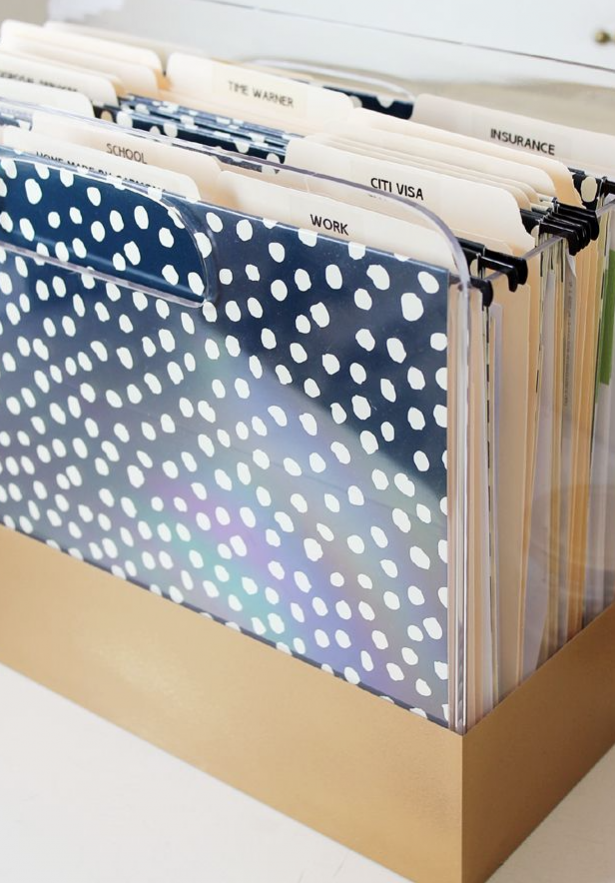 organize your office, office tips, filing folders