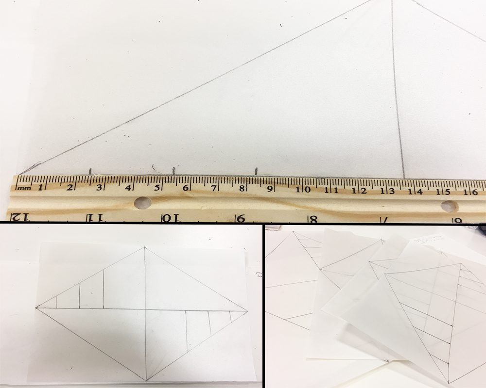 Drawing Lines Using A Ruler : How to make a paper cathedral lantern jam