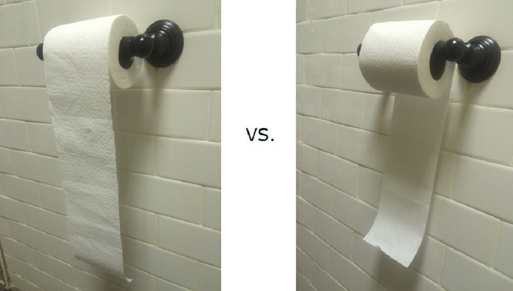 Toilet Paper Orientation: Over or Under?