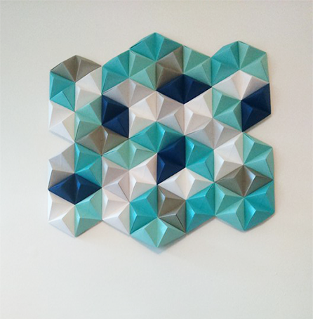 Diy geometric paper wall art jam blog Wall art paper designs