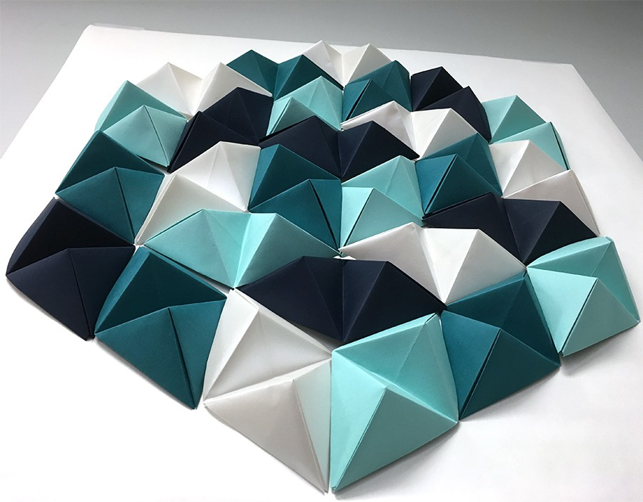 Wall Designs With Craft Paper : Diy geometric paper wall art jam
