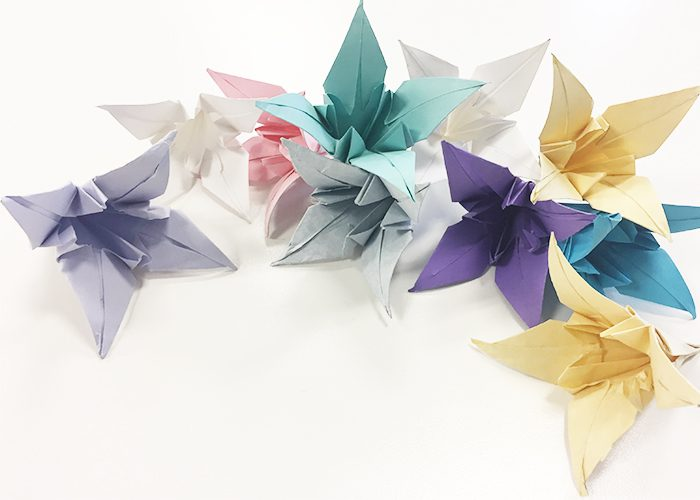How To Make Paper Origami Easter Lilies, Flower,s Lilies, all colors, complete, bouquet