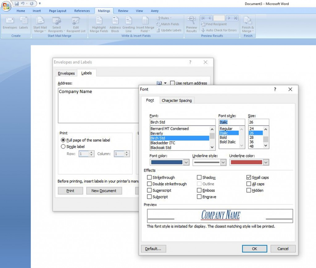 microsoft word, labels in microsoft word, label printing, printable business cards