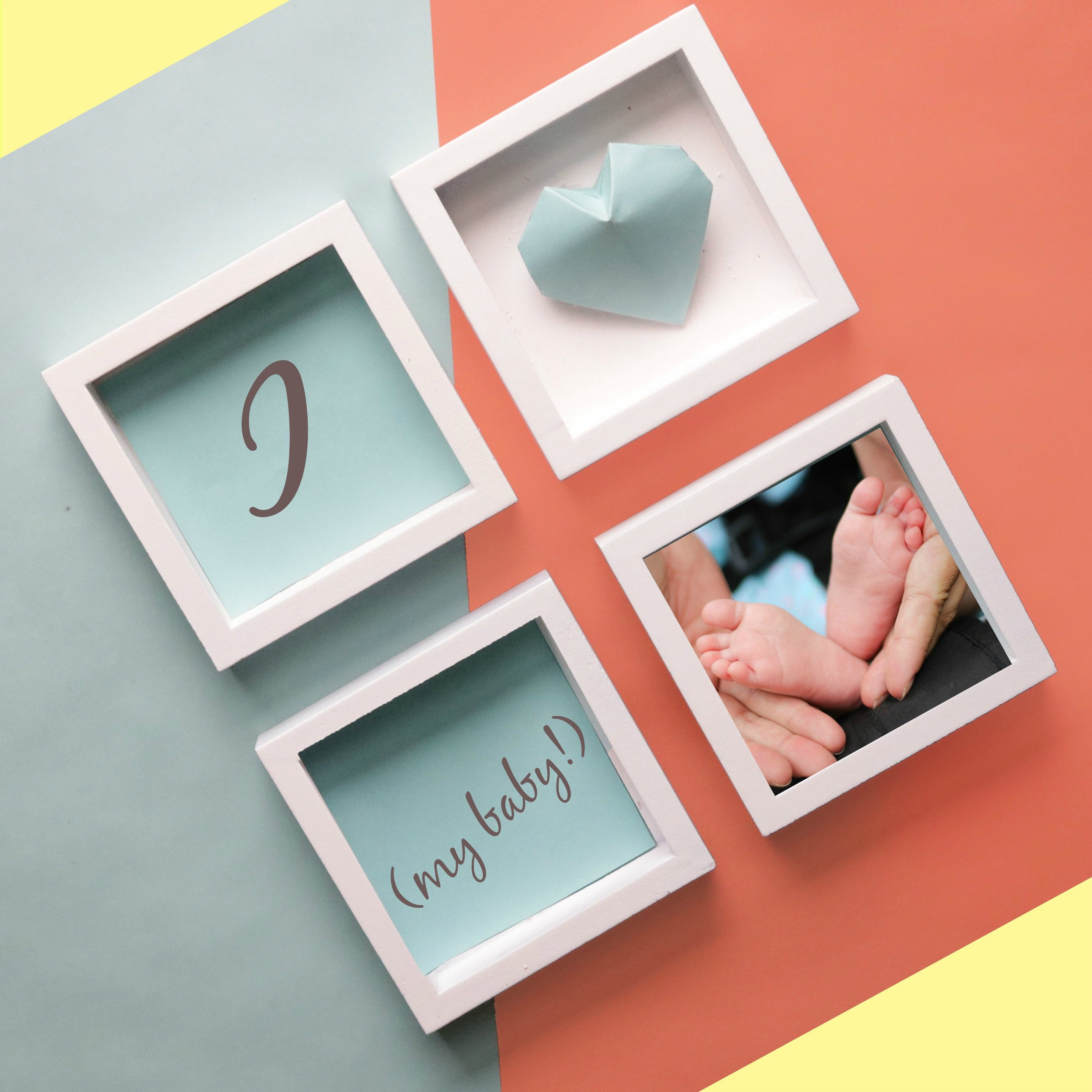 Picture frames, I heart (my baby!), baby feet