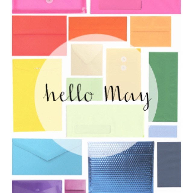Happy May everyone!!!!! #enjoy #may #friday #colors #flowers #trends #weekend #envelopes #officesupplies